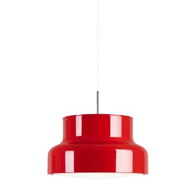Bilde av Bumling pendel 60 cm, opalt akrylglass/rød