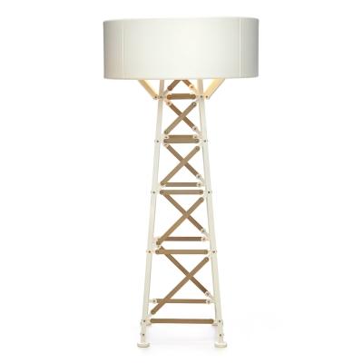 Bilde av Construction Lamp bordlampe M, hvit/tre