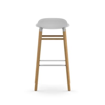 Bilde av Form barstol 75, hvit/eik