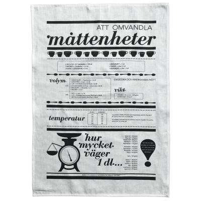 Bilde av Måleenhet kjøkkenhåndkle, hvit