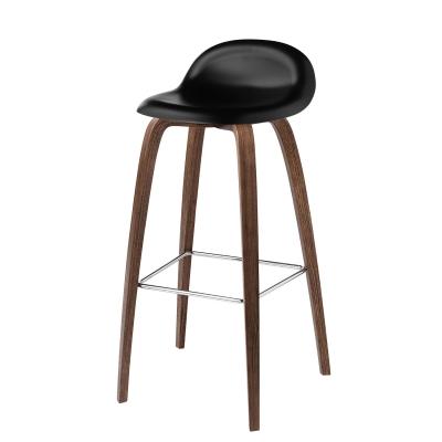 Bilde av Gubi 3D barstol h75, valnøtt/svart