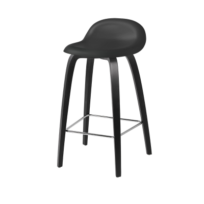 Bilde av Gubi 3D barstol 65, bøk/svart