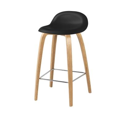 Bilde av Gubi 3D barstol h65, eik/svart