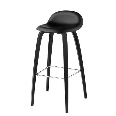 Bilde av Gubi 3D barstol h75, svart/svart
