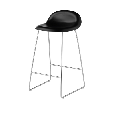 Bilde av Gubi 3D barstol h65, krom/svart