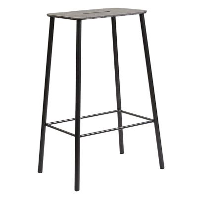 Bilde av Adam stool 65 barstol, skinn/svart