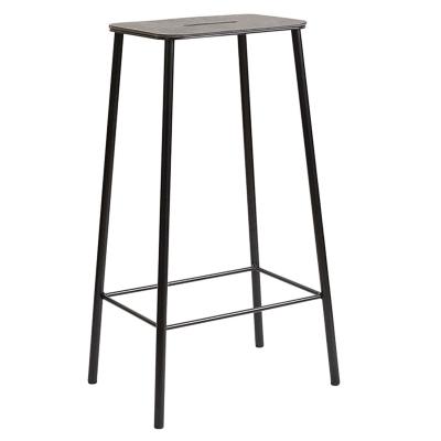 Bilde av Adam stool 76 barstol, skinn/svart