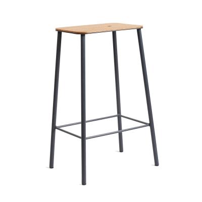 Bilde av Adam Stool 65 barstol, eik/grå