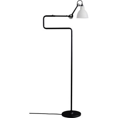 Bilde av N°411 gulvlampe, svart/frostet glass