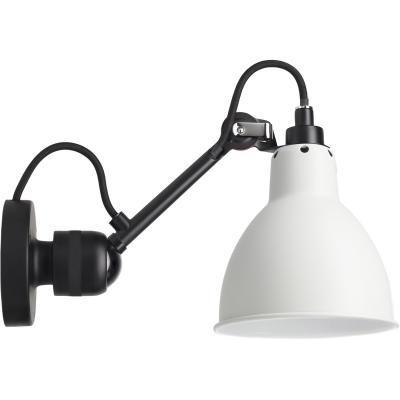 Bilde av N°304 vegglampe med ledning, svart/hvit
