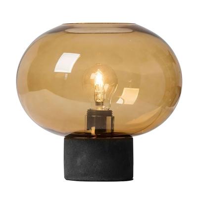 Bilde av Alberta bordlampe, mørkegrå/cognac