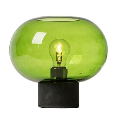 Bilde av Alberta bordlampe, mørkegrå/grønn