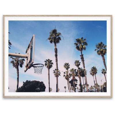 Bilde av Cities of basketball 02, LA plakat 30 x 40