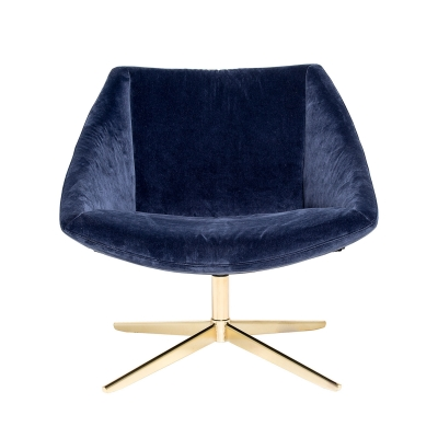 Bilde av Elegant stol, blå/gull