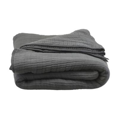 Bilde av Lia sengeteppe 260 x 260, mørkegrått