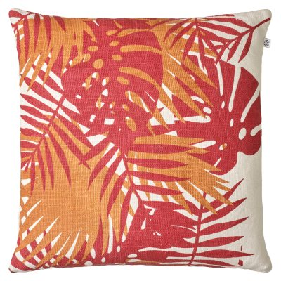 Bilde av Palm Linen putetrekk 50x50, red/jaffa orange