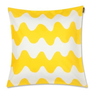Bilde av Pikku Lokki putetrekk 45 x 45, hvitt/gult