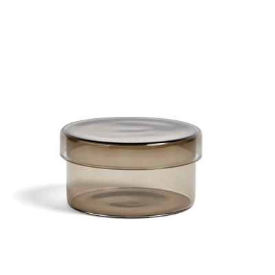 Bilde av Container glasskrukke M, grå