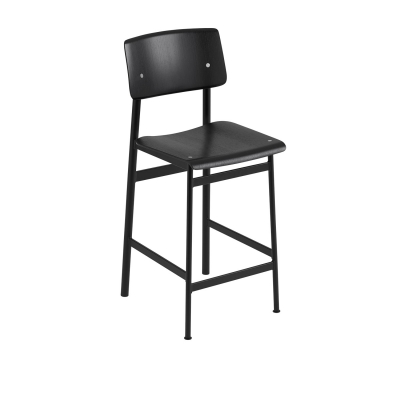 Bilde av Loft barstol h65, svart/svart
