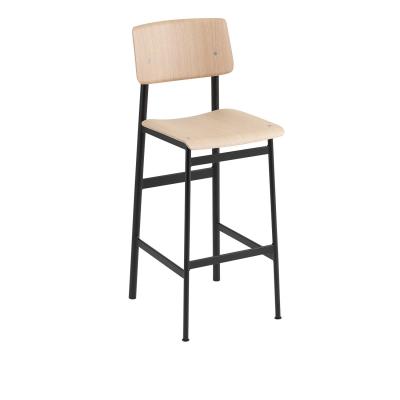 Bilde av Loft barstol h75, svart/eik