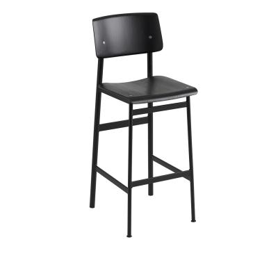 Bilde av Loft barstol h75, svart/svart