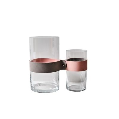 Bilde av Next to you vase M, lysegrå/rosa