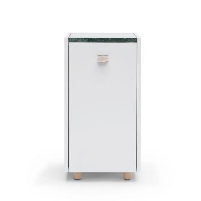 Bilde av Loft sengeskap TC1, lysegrå/grønn marmor