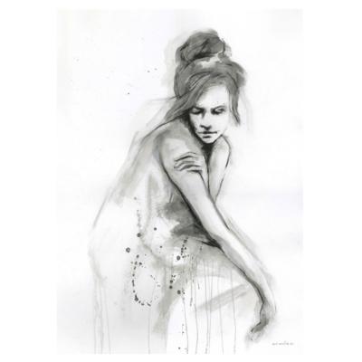 Bilde av Thoughtful no. I limitert poster, 50x70 cm