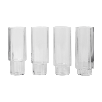 Ripple Long glass, 4-pack i gruppen Servering / Glass / Drikkeglass hos ROOM21.no (1042426)