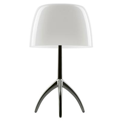 Bilde av Lumiere bordlampe, svart krom/hvit