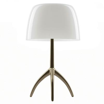 Bilde av Lumiere bordlampe, champagne/hvit
