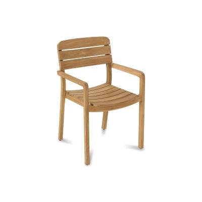 Bilde av Lodge stol m armstøtte, teak
