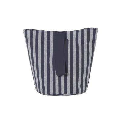 Bilde av Chambray kurv med håndtak S, striper