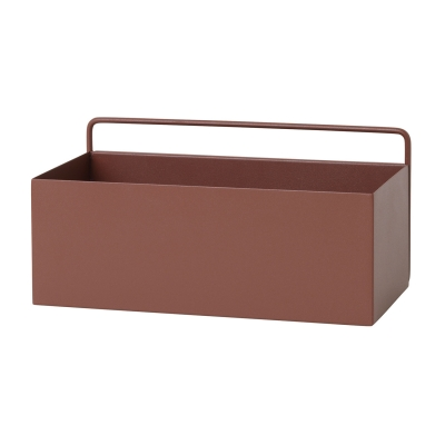 Bilde av Wall box rektangel, rødbrun