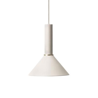Bilde av Cone pendel høy, lysegrå/lysegrå
