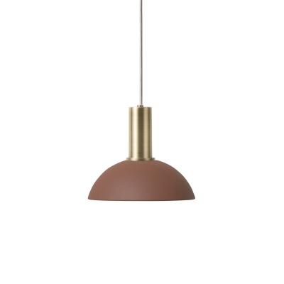 Bilde av Hoop pendel lav, rødbrun/messing