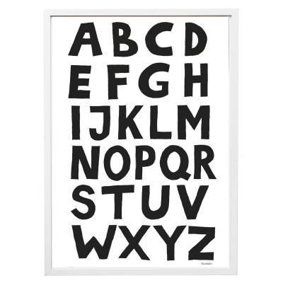 Bilde av ABC poster A3, svart/vit