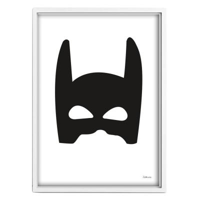 Bilde av Superhero poster A3, svart/vit