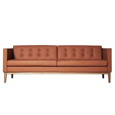 Bilde av Madison 3-pers sofa med knapper, brun