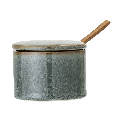 Bilde av Pixie boks med lokk & skje, grønn