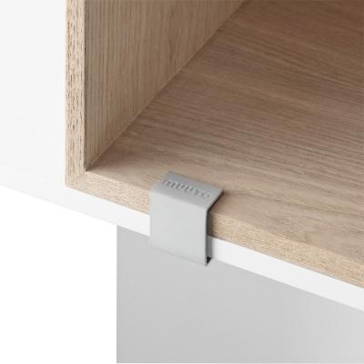 Bilde av Mini Stacked clips 2.0 5 stk, grå