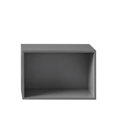 Bilde av Stacked hylle 2.0 L med ryggskive, grå