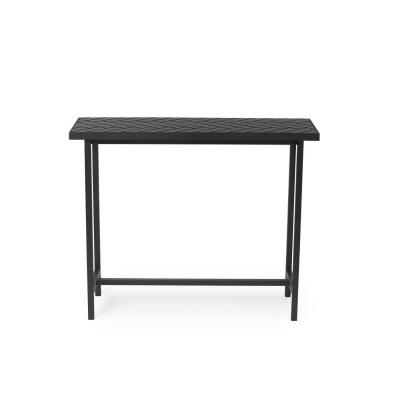 Bilde av Herringbone Tile sidebord høyt, svart