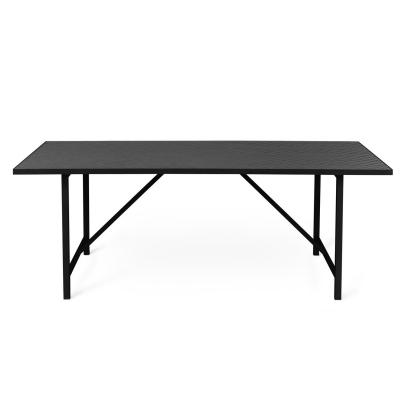 Bilde av Herringbone Tile spisebord, svart