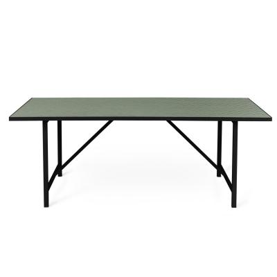 Bilde av Herringbone Tile spisebord, forest green