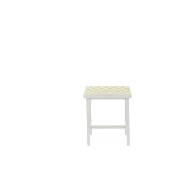 Bilde av Herringbone Tile sidebord lavt, butter yellow
