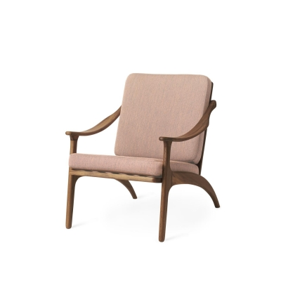 Bilde av Lean Back loungestol, teak/pale rose