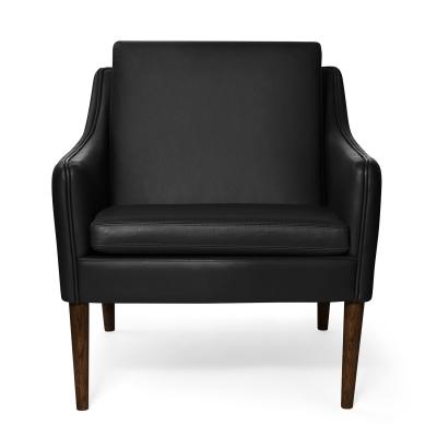 Bilde av Mr. Olsen loungestol, svart/valnøttsoljet eik