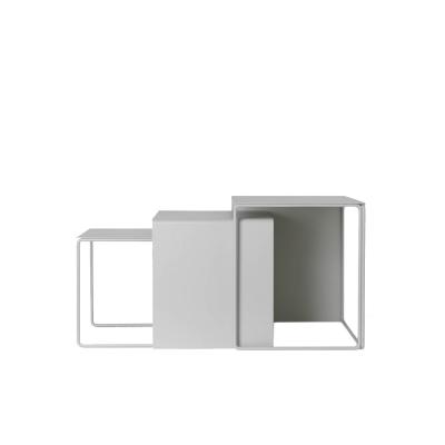Bilde av Cluster bord, 3-pk, lysegrå