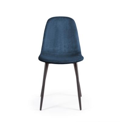 Bilde av Cue stol fløyel, blå
